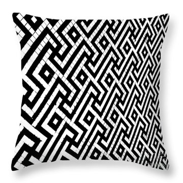 Throw Pillow featuring the photograph Maze Print by Rebecca Harman