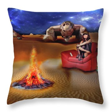 Mazzy Stars Throw Pillow by Michael Cleere