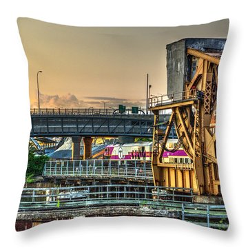 Mbta Bascule Bridge 010 Throw Pillow
