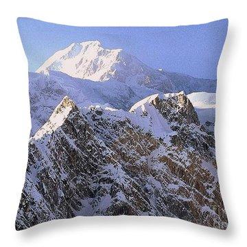 Mc Kinley Peak Throw Pillow