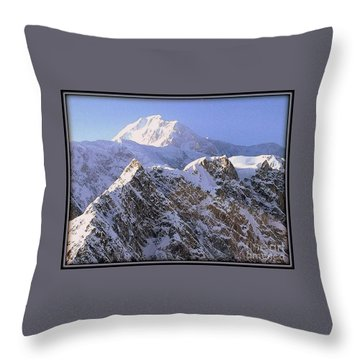 Mc Kinley Peak Throw Pillow