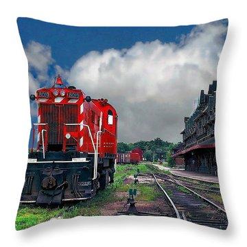 Mcadam Train Station Throw Pillow