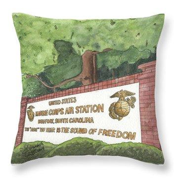 Mcas Beaufort Welcome Throw Pillow