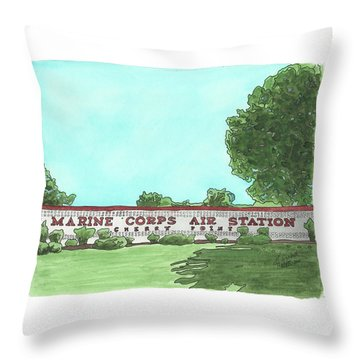 Mcas Cherry Point Welcome Throw Pillow