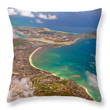 Throw Pillow featuring the photograph Mcbh Aerial View by Dan McManus