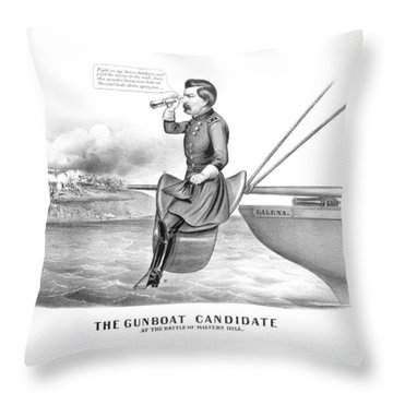 Mcclellan The Gunboat Candidate Throw Pillow
