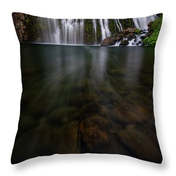 Throw Pillow featuring the photograph Mccloud Falls by Dustin LeFevre
