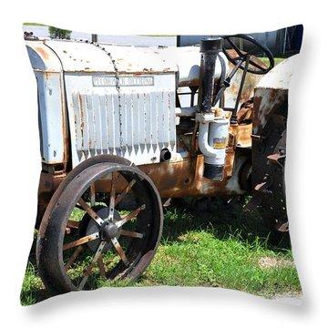 Mccormick-deering 10-20 Tractor Throw Pillow by John Black