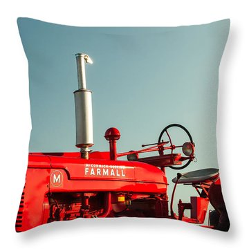 Mccormick-deering Farmall M Throw Pillow