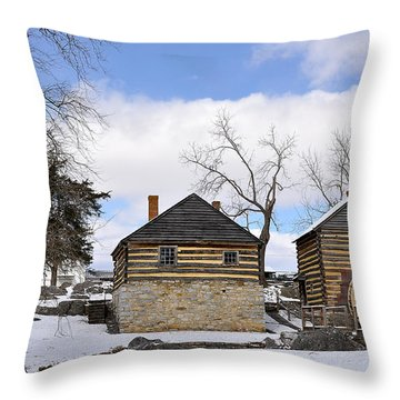 Mccormick Farm 1 Throw Pillow by Todd Hostetter