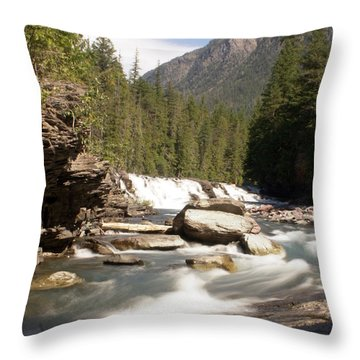 Mcdonald Creek Throw Pillow by Marty Koch