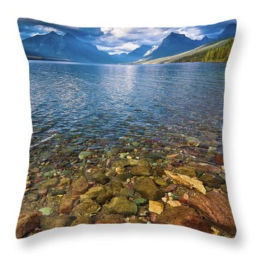 Mcdonald Lake Colors Throw Pillow
