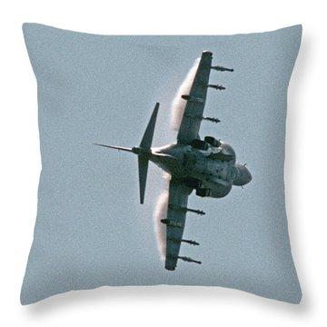 Mcdonnell-douglas Av-8b Harrier Buno 164119 Of Vma-211 Turning Mcas Miramar October 18 2003 Throw Pillow