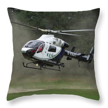 Throw Pillow featuring the photograph Mcdonnell Douglas Md-902 Explorer  by Tim Beach