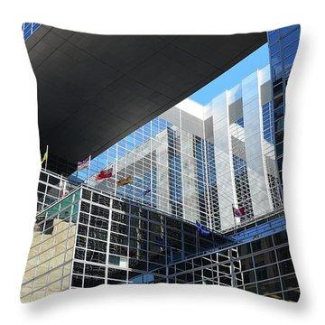Throw Pillow featuring the photograph Mcgee Building  Ottawa by John Schneider