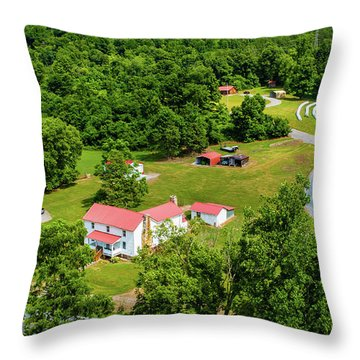 Mcghee Aerial 0068 Throw Pillow