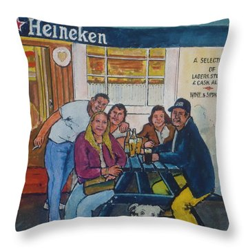 Amber At Mcglynn's Pub In London, England Throw Pillow