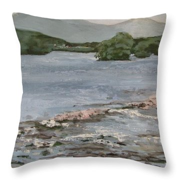 Mckee's Falls Throw Pillow by Peggy Klinger