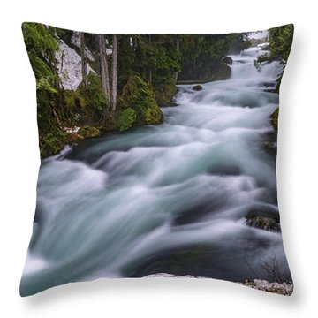 Throw Pillow featuring the photograph Mckenzie River by Cat Connor