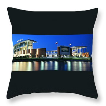 Mclane Stadium Panoramic Throw Pillow