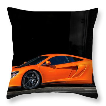 Mclaren 650 S  Throw Pillow