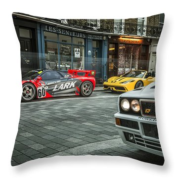 Mclaren F1 Gtr With Speciale And Integrale  Throw Pillow