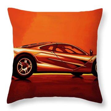 Mclaren F1 1994 Painting Throw Pillow