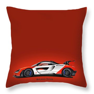 Mclaren Senna Throw Pillow