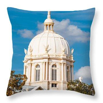 Mclennan County Courthouse Dome By J. Reily Gordon - Waco Central Texas Throw Pillow