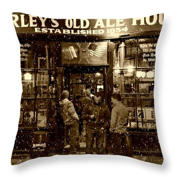 Mcsorley's Old Ale House Throw Pillow by Randy Aveille