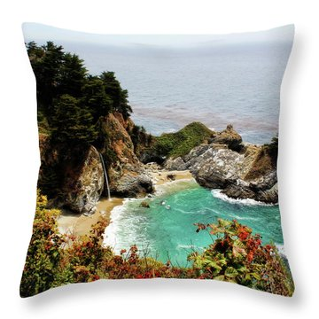 Mcway Falls 2 Throw Pillow by Judy Vincent