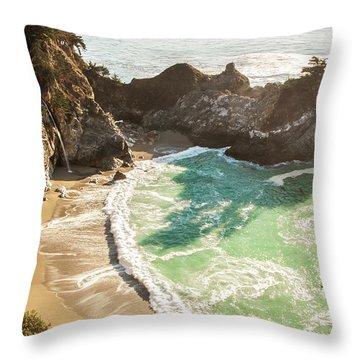 Mcway Falls, California Throw Pillow