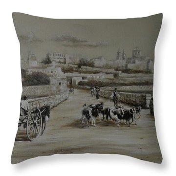 Mdina  Road Throw Pillow
