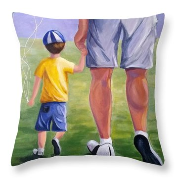 Me And My Dad Throw Pillow