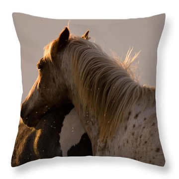 Me And My Flies Throw Pillow by Angel  Tarantella