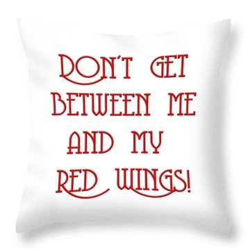 Me And My Red Wings 1 Throw Pillow by Andee Design