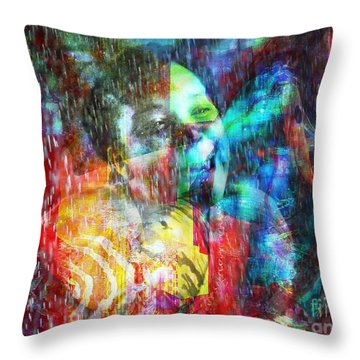 Me Et Moi Throw Pillow by Fania Simon
