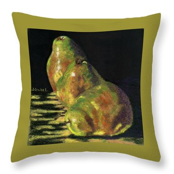 Me First Pears Throw Pillow