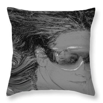 Me Throw Pillow by Linda Sannuti