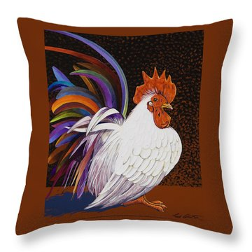 Throw Pillow featuring the painting Me, Me, Me by Bob Coonts