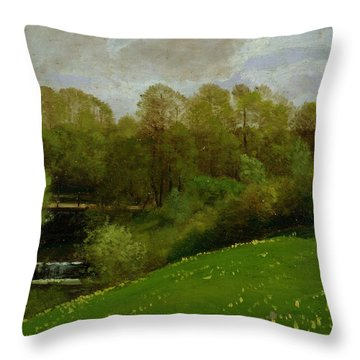 Meadow And Woodland Throw Pillow by Valentin Ruths