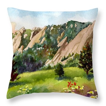 Meadow At Chautauqua Throw Pillow by Anne Gifford