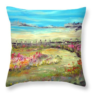 Meadow Bluffs Throw Pillow