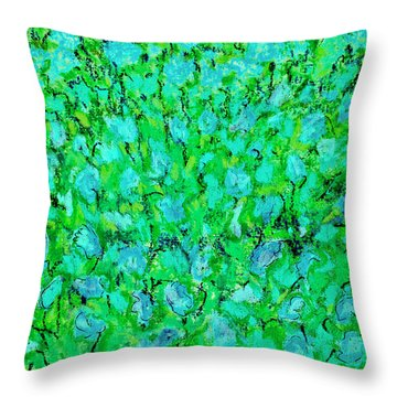 Meadow Flowers Throw Pillow by Linde Townsend
