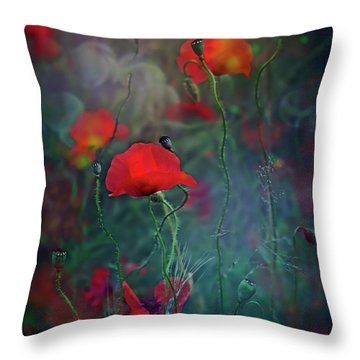 Meadow In Another Dimension Throw Pillow by Agnieszka Mlicka