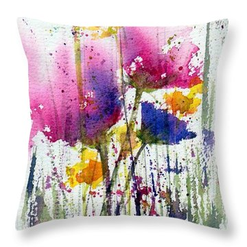 Meadow Medley Throw Pillow