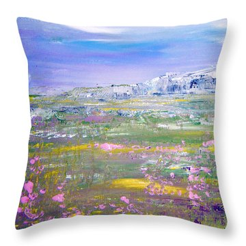 Meadow Sky By Colleen Ranney Throw Pillow