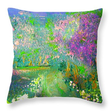 Meadow Trail By Colleen Ranney Throw Pillow