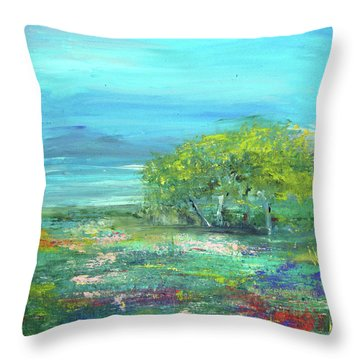 Meadow Trees Throw Pillow