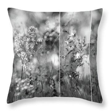 Meadowgrasses Throw Pillow by Linde Townsend